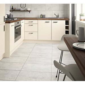 Wickes City Stone Grey Ceramic Wall & Floor Tile 600 x 300mm