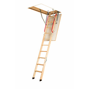 Image of Fakro 2.8m LWK 280 Komfort Timber Loft Ladder 70 x 130cm