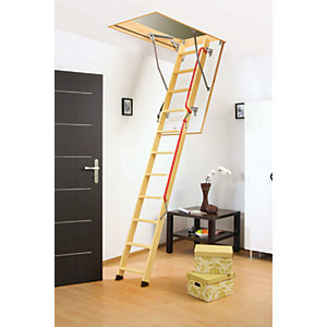 Image of Fakro 3m LWL 305 Lux Timber Loft Ladder 60 x 130cm