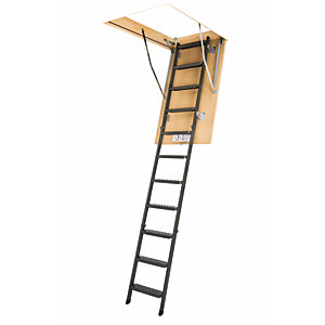 Image of Fakro 2.8m LMS 280 Smart Metal Loft Ladder 60 x 120cm