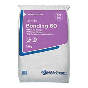Image of British Gypsum Thistle Bonding Coat Plaster 60 - 25kg