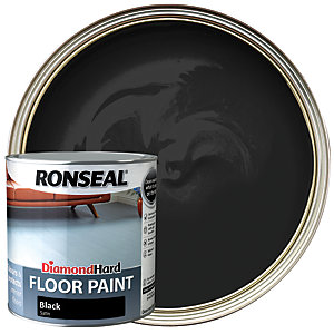 Ronseal Diamond Hard Floor Paint Satin Black 2 5l Wickes Co Uk