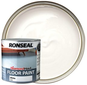 Ronseal Diamond Hard Floor Paint Satin White 2 5l Wickes Co Uk