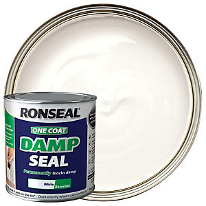 Ronseal One Coat Damp Seal Basecoat Paint - White 2.5L