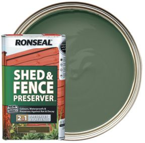 Ronseal Shed Fence Preserver Green 5l