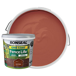 Ronseal One Coat Fence Life Matt Shed & Fence Treatment - Red Cedar 5L