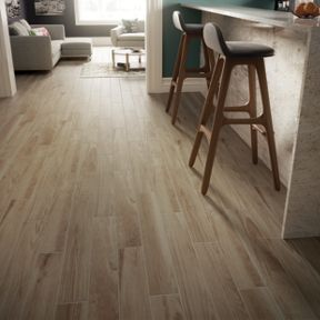 Wood Effect Porcelain Floor Tiles >> Wickes Selwood Light Oak Wood Effect Porcelain Tile 900 X 150mm