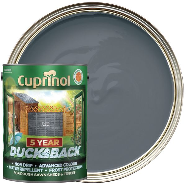 Cuprinol 5L Ducksback Matt Shed & Fence Treatment - Silver Copse