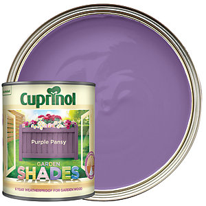 Cuprinol Garden Shades Matt Wood Treatment - Purple Pansy 1L