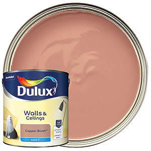 Dulux - Copper Blush - Matt Emulsion Paint 2.5L