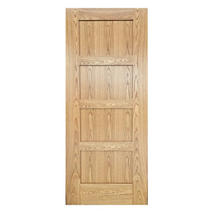 Wickes Marlow Internal Pre Finished 4 Panel Oak Veneer Door - 1981 x 762mm
