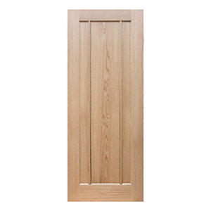 Wickes York Internal Pre Finished 3 Panel Oak Door - 1981 x 762mm