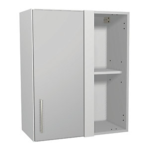 Wickes Orlando Grey Gloss Slab Corner Wall Unit - 600mm