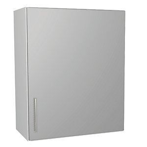 Wickes Orlando Grey Gloss Slab Wall Unit - 600mm