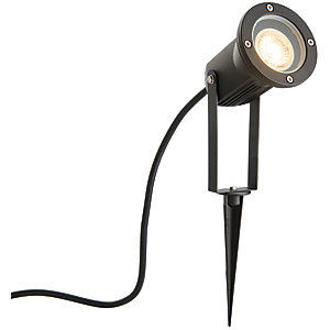 Image of Wickes Pol Halo Garden Spike Light with die cast aluminium construction - 50W