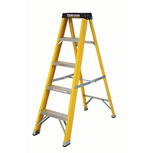 Compare retail prices of Youngman S400 GRP 5 Tread Heavy Duty Trade Fibreglass Stepladder to get the best deal online