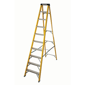 Compare retail prices of Youngman S400 GRP 10 Tread Heavy Duty Trade Fibreglass Stepladder to get the best deal online