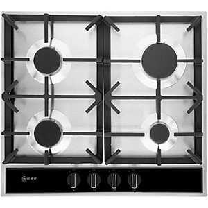 Image of NEFF 60cm 4 Burner Gas Stainless Steel Hob T26DA49N0 SS