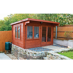 Shire 12 x 10 ft Danbury Double Door Garden Home Office Cabin