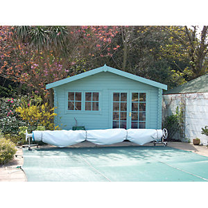 Shire 14 X 12 Ft Large Abbeyford Double Door Garden Summerhouse