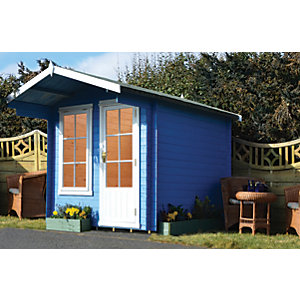 Shire 10 x 10 ft Crinan Garden Log Cabin with Overhang