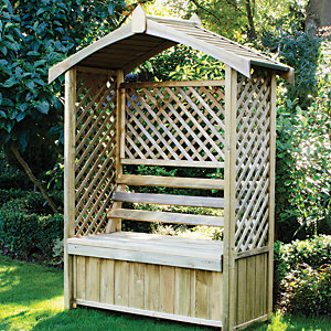 Forest Garden Lyon Lattice Garden Arbour - 1560 x 670 mm