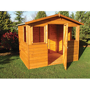 Shire 8 x 6 ft Orkney Timber Apex Decorative Shed