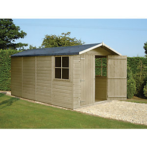 Shire Modular Apex Double Door Timber Shed - 7 x 13 ft