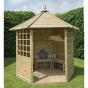 Image of Forest Garden Arden Timber Gazebo - 2810 x 2450 mm - with Assembly