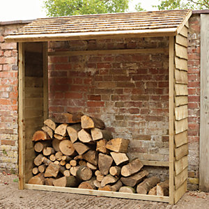 Image of Forest Garden 6 x 3 ft Overlap Timber Wall Log Store