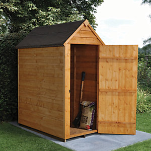 Forest Garden Apex Overlap Dip Treated Windowless Shed - 3 x 5 ft