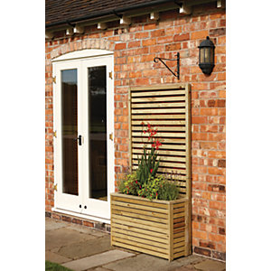 Image of Rowlinson Wooden Planter - 600 x 900 x 300mm