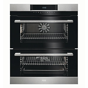 Image of AEG Surround Cook Double Multifunction Stainless Steel Electric Oven DUK731110M