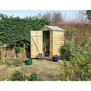 Rowlinson 4 x 3 ft Oxford Small Apex Shiplap Windowless Shed