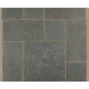 Marshalls Granite Eclipse Textured Graphite Paving Slab 600 x 600 x 25 mm - 18m2 pack