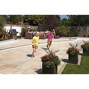 Marshalls Sawn Versuro Smooth Golden Sand Paving Slab 845 x 560 x 22 mm - 16.6m2 pack