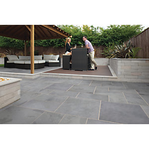 Marshalls Casarta Slate Textured Silver Grey Paving Slab 800 x 400 x 20 mm - 16m2 pack