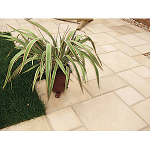 Marshalls Firedstone Textured Fired York Paving Slab 300 x 300 x 38 mm - 3.96m2 pack