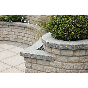 Image of Marshalls Argent Coarse Coping Stone - Light 600 x 272 x 50mm Pack of 25