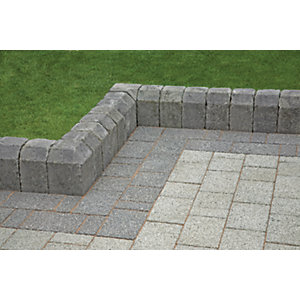 Marshalls Tegula Exterior Radial Kerb Stone - Pennant Grey 130mm Pack of 60