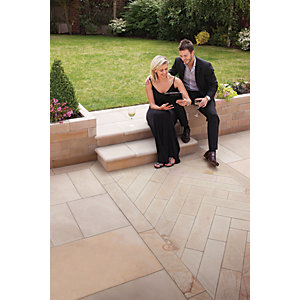 Marshalls Sawn Versuro Smooth Autumn Bronze Paving Slab 845 x 140 x 22 mm - 11.83m2 pack