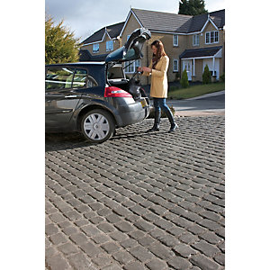 Marshalls Drivesys Original Cobble Textured Driveway Block Paving Pack Mixed Size - Basalt 5.46 m2