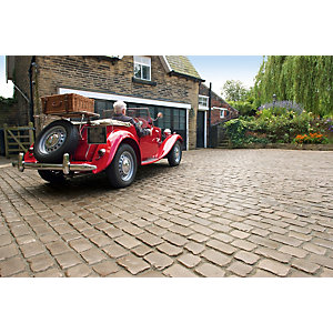 Marshalls Drivesys Original Cobble Textured Driveway Block Paving Pack Mixed Size - Canvas 5.46 m2