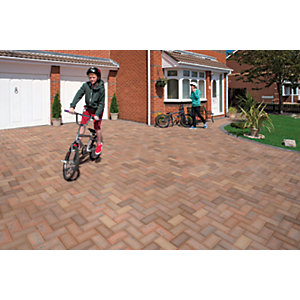 Image of Marshalls Driveline 50 Smooth Block Paving - Brindle 200 x 100 x 50mm Pack of 488