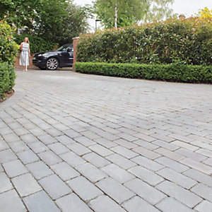 Marshalls Fairstone Natural Sawn Set Driveway Block Paving - Silver Birch 200 X 100 X 50mm Pack Of 480