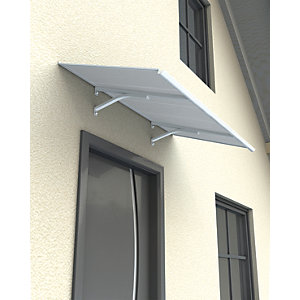 Image of Palram Columba Polycarbonate Multiwall Door Canopy White - 270 x 850 mm