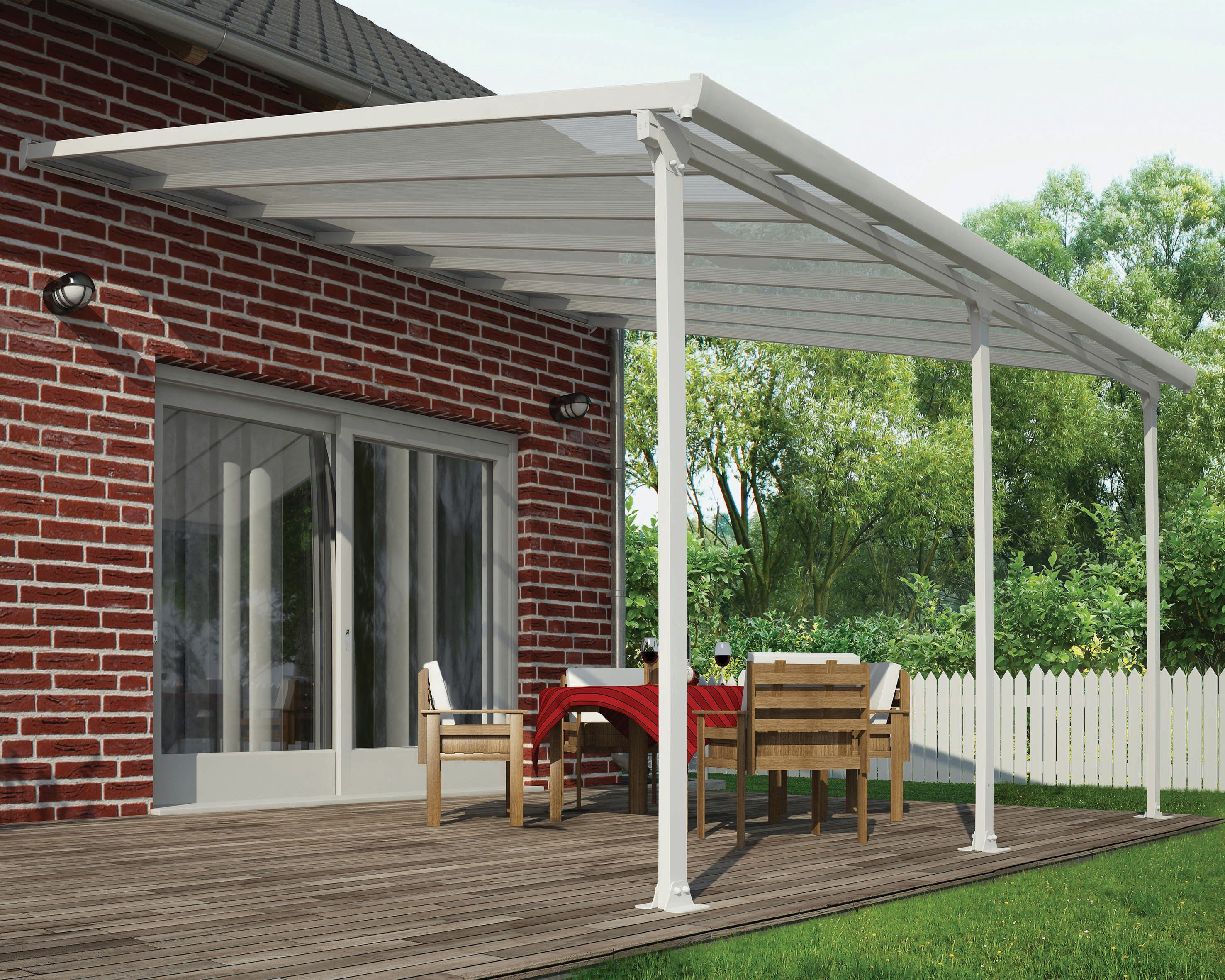 Palram Feria Polycarbonate Patio Canopy White - 4250 x 3870 mm | Wickes.co.uk : canopy polycarbonate - memphite.com