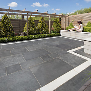 Marshalls Symphony Project Smooth Blue Porcelain Paving Patio Pack 16.89 M2