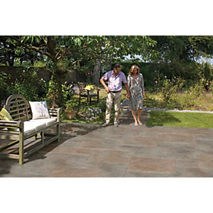 Marshalls Symphony Project Smooth Copper Porcelain Paving Patio Pack - 16.89 M2
