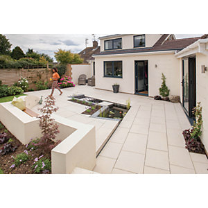 Marshalls Symphony Smooth Barley Porcelain Paving Patio Pack - 16.16 M2